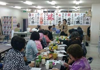 市民の会事務所へ比嘉奈津美代議士が激励に来て頂きました。